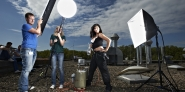 Fotoshooting mit Handwerkerin