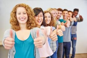 Schüler nach dem Abitur